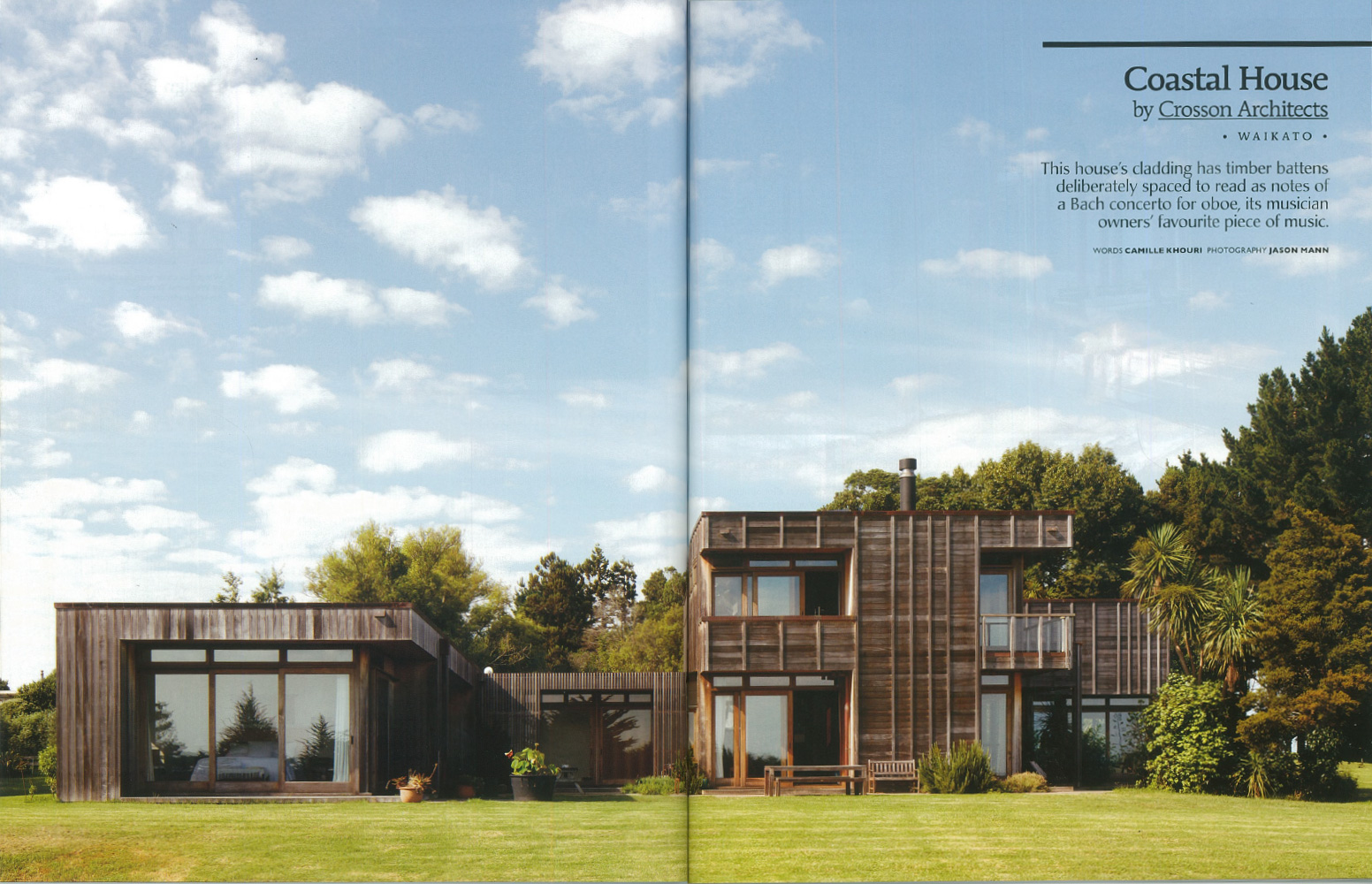 house magazine spread