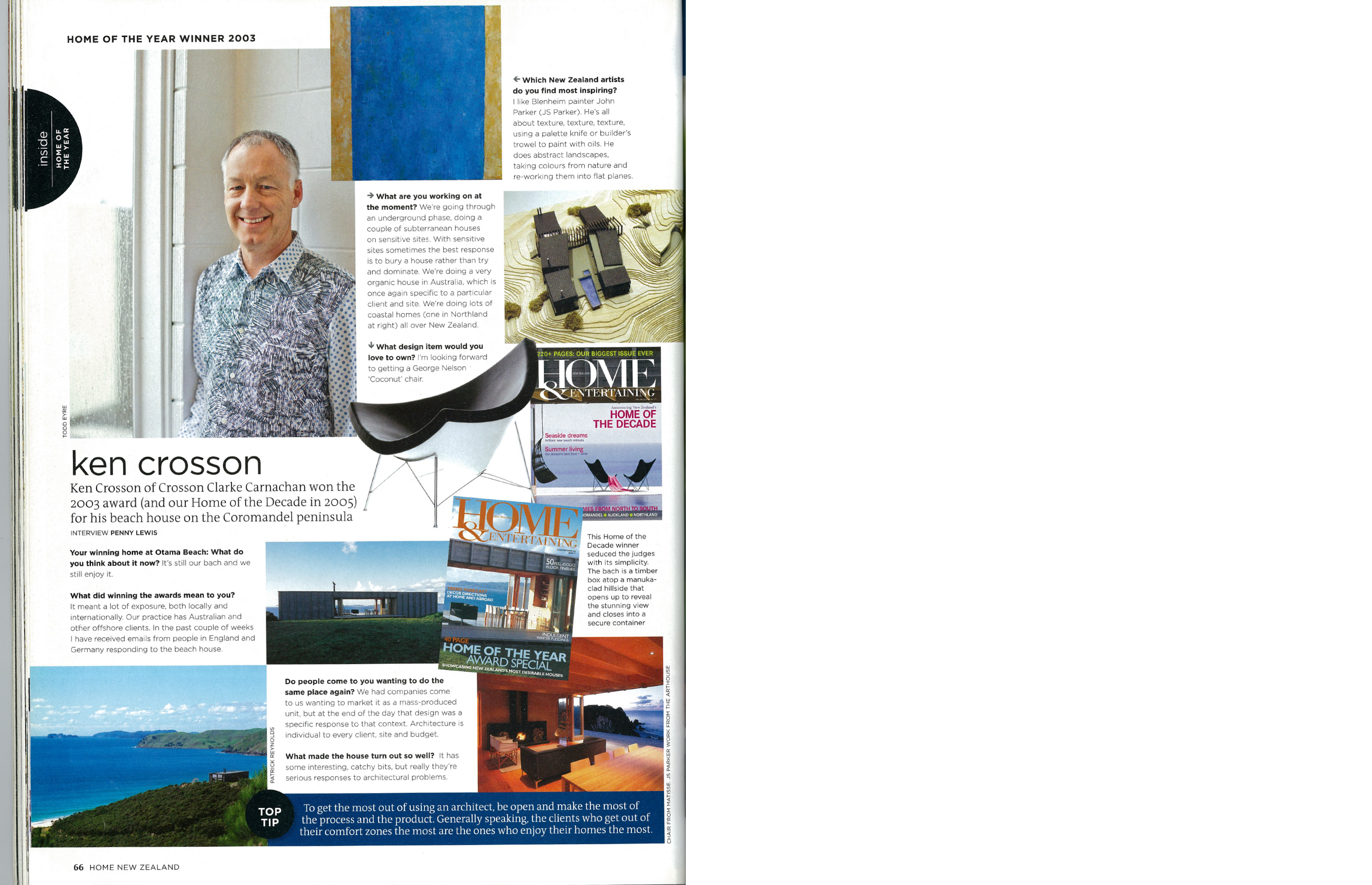 Interview with Ken Crosson Home Magazine