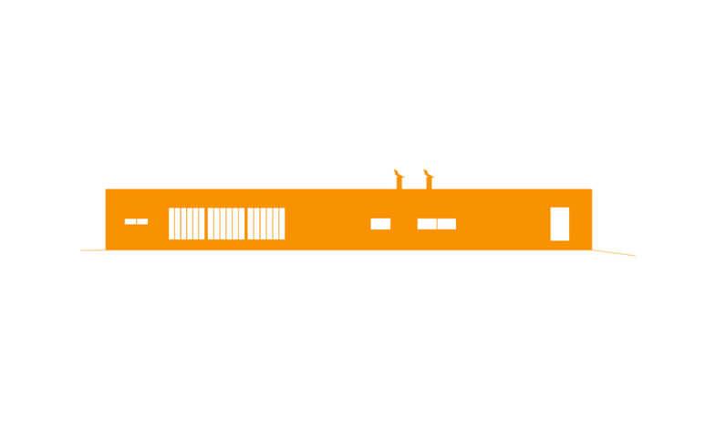 architectural house design orange elevation