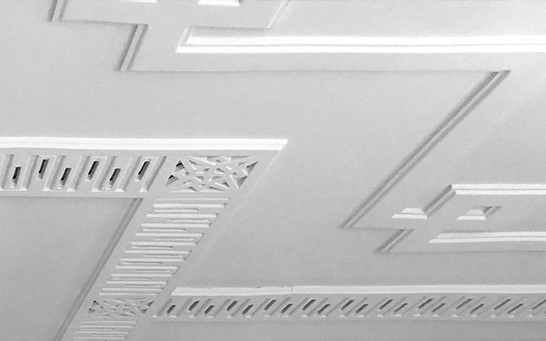 detail of ceiling heritage conservation
