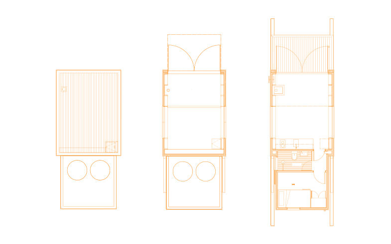 plans of small architect designed beach house