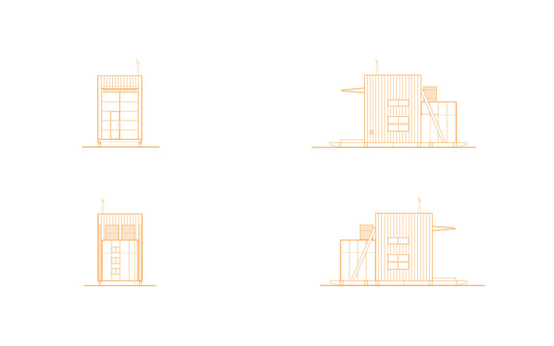 elevations of small house architectural