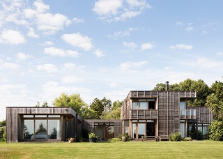 timber clad modern house in NZ