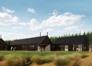 dark cedar house render